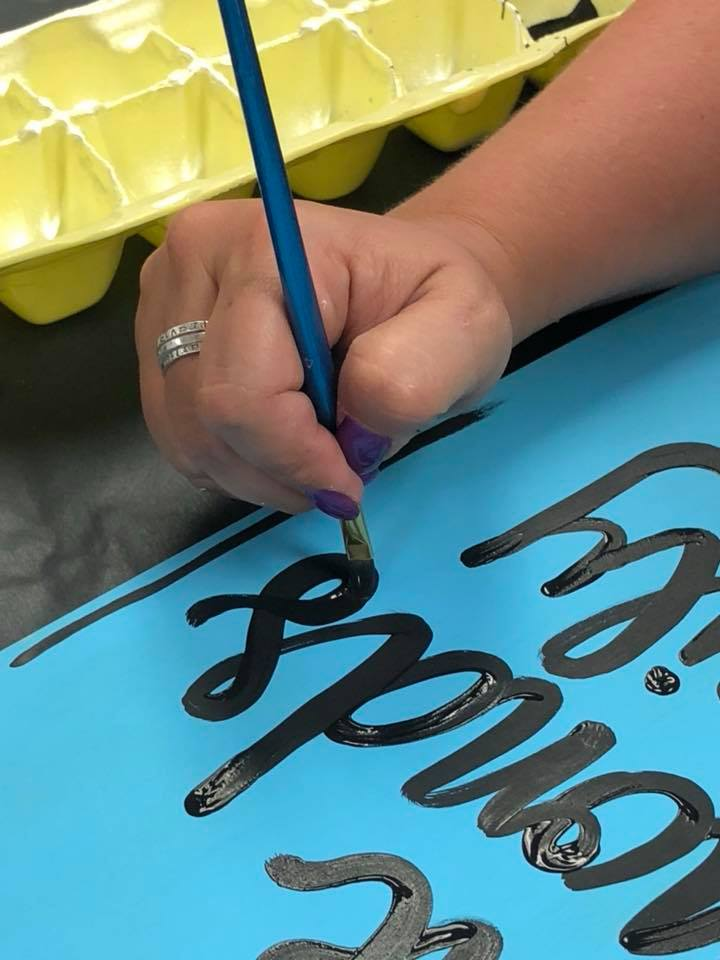 Tamara painting words