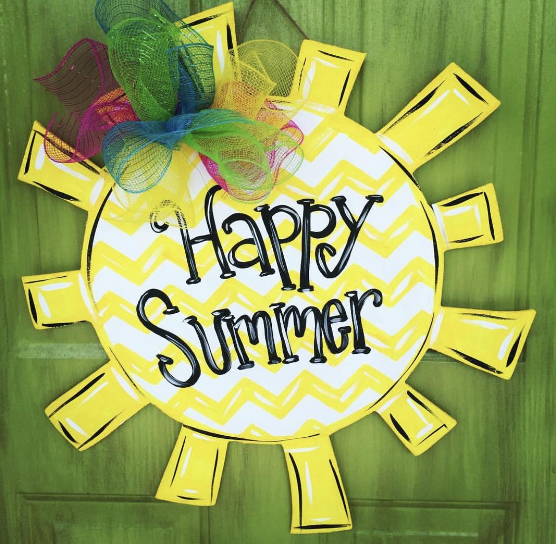 Summer Diy Painted Door Hangers Southern Adoornments Decor