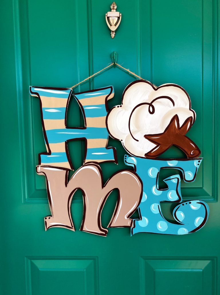 HOME DIY Cotton Door Hanger by Southern ADOORnments