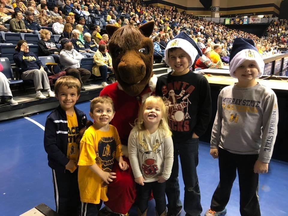 Murray State Dunker Santa Basketball Kids Grinch Christmas Painted Backdrop by Southern ADOORnments