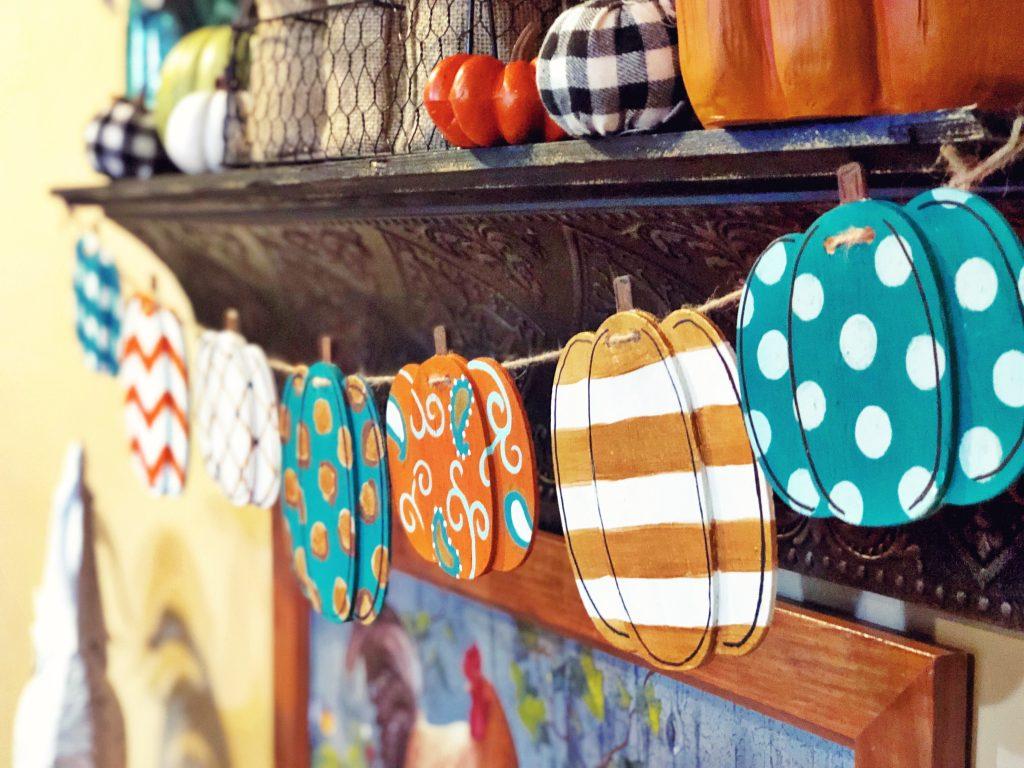Painted Pumpkin Fall Banner