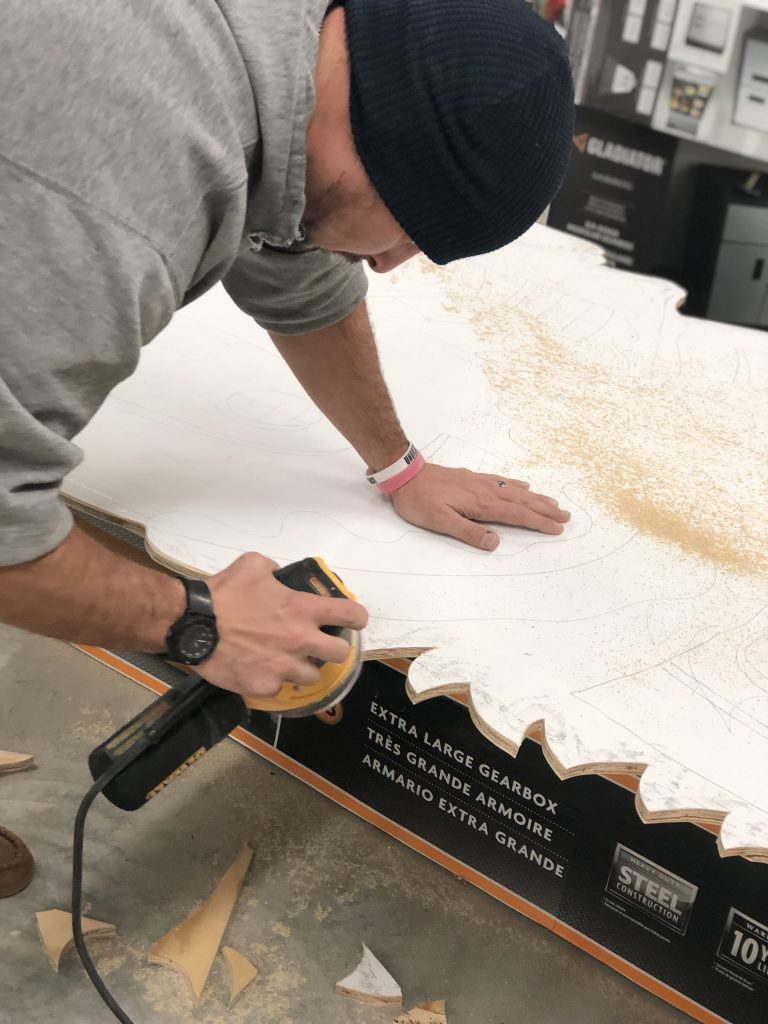Sanding Photo Prop for Murray State Basketball Grinch Christmas Painted Backdrop by Southern ADOORnments