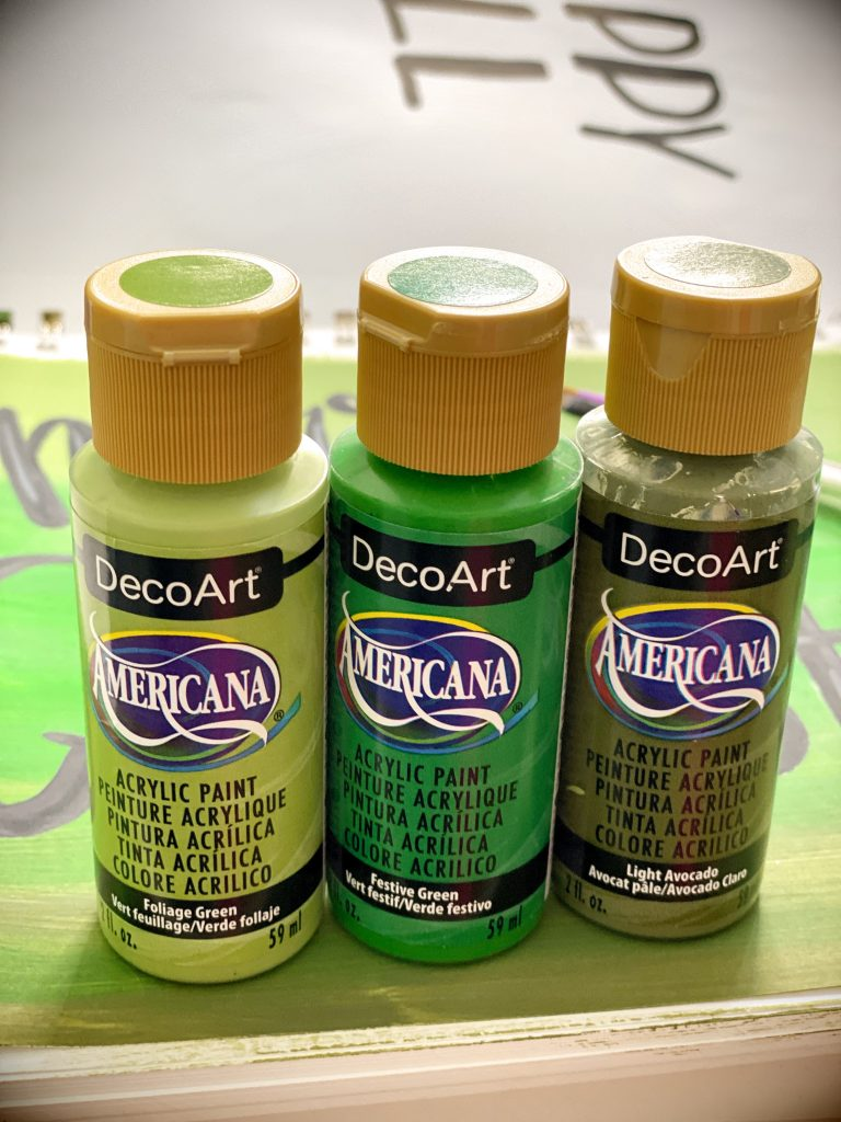 DecoArt American Acrylic Paint for Hand Lettering Door hanger by Southern ADOOrnments