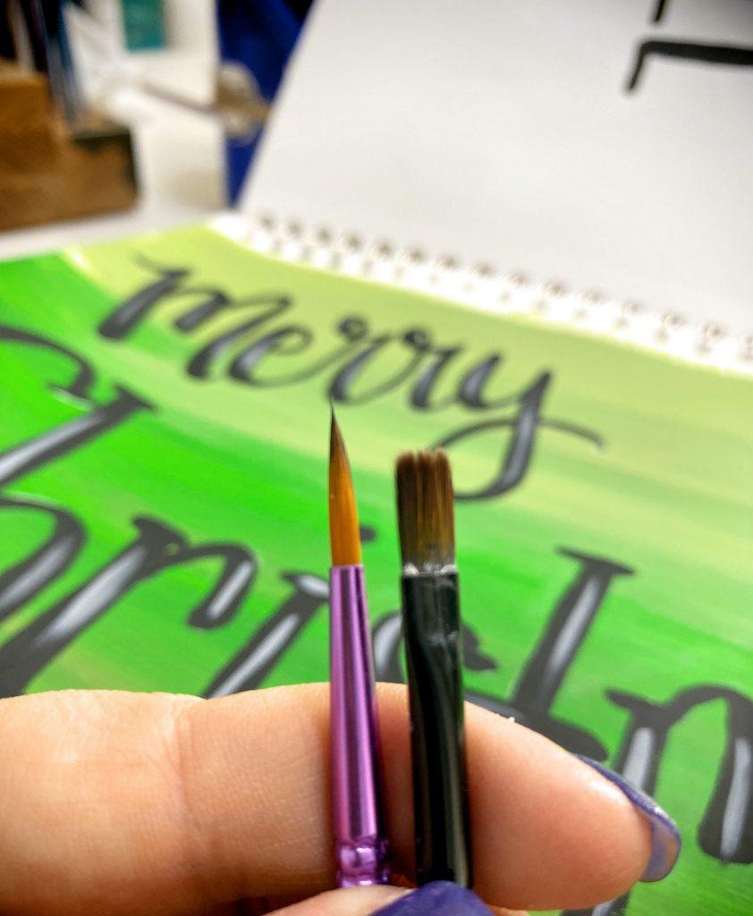 Round Tip Vs Filbert Brush for Hand Lettering
