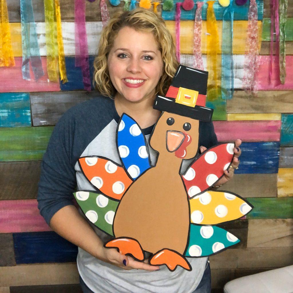 Tamara Bennett Pilgrim Turkey DIY Thanksgiving Door Hanger by Southern ADOORnments