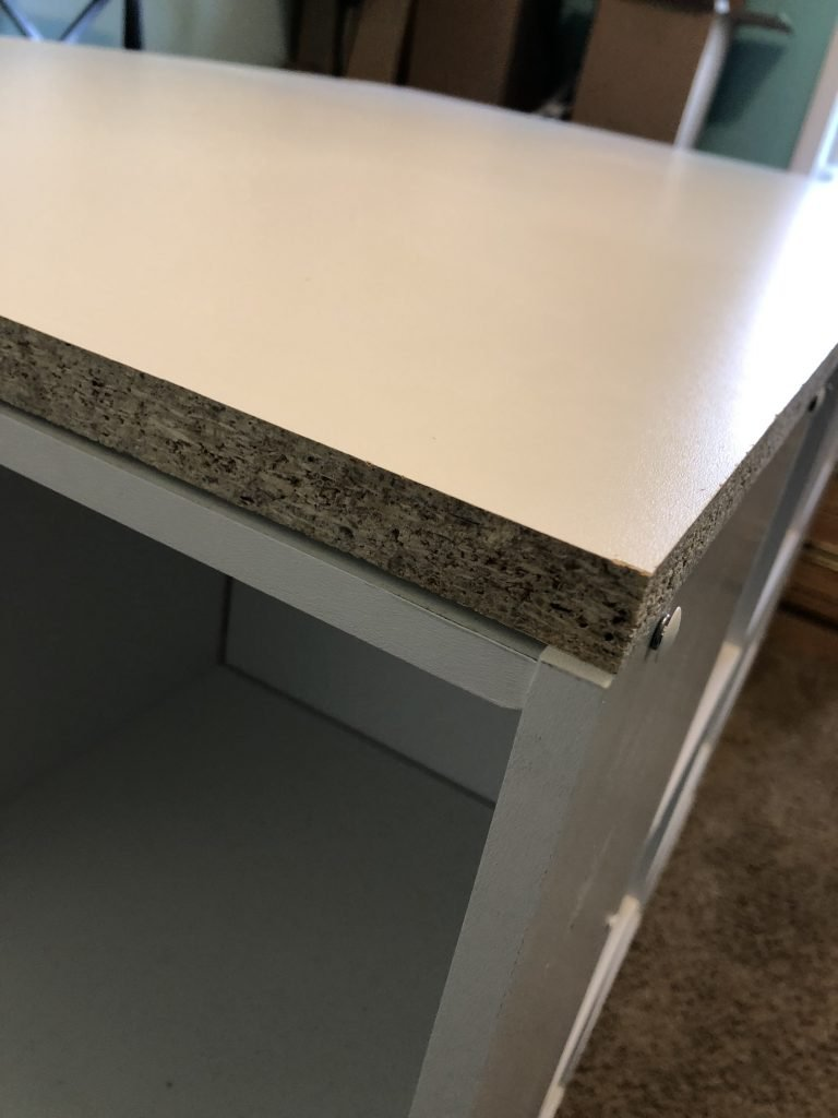 Unfinished Edge Easy DIY Craft Room Desk Island Project by Southern ADOORnments