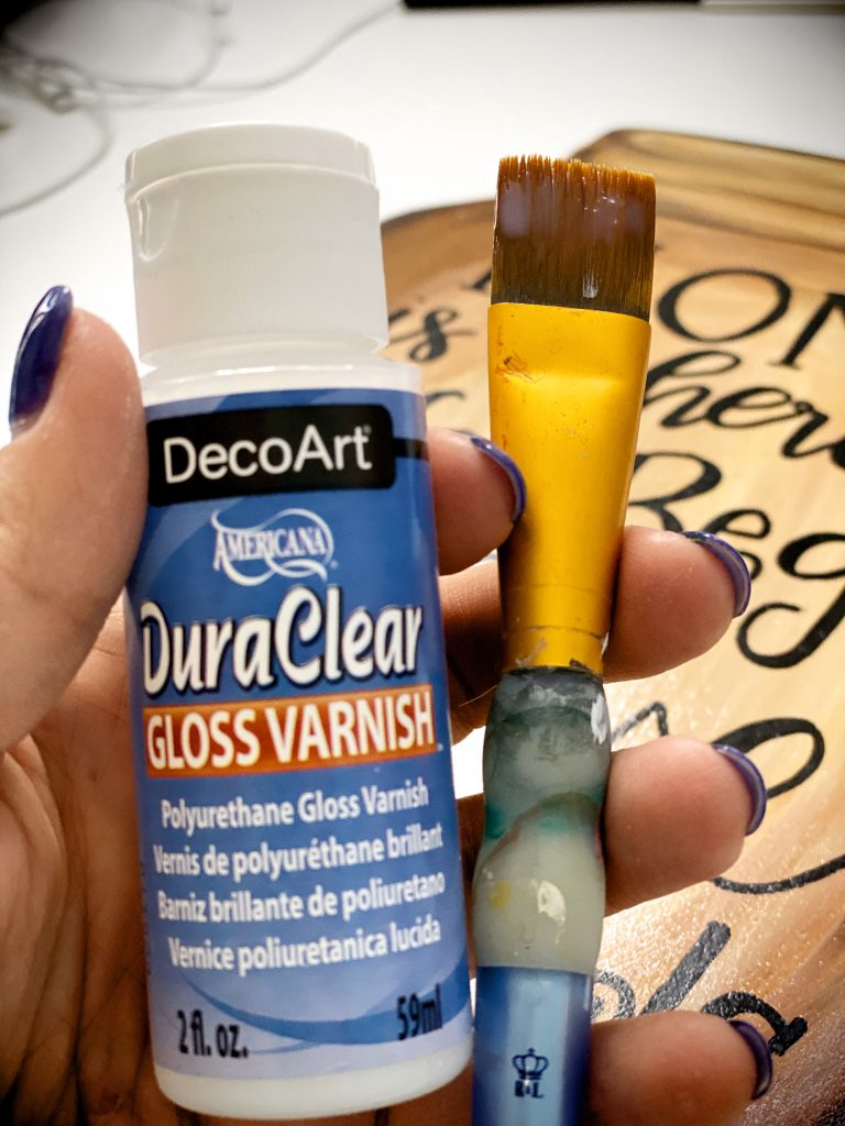 Brush on Sealant DecoArt DuraClear Gloss Varnish for Painted Door Hangers by Southern ADOORnments