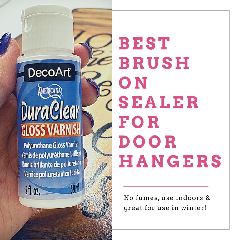 DecoArt DuraClear Gloss Varnish Door Hanger Sealant by Southern ADOORnments