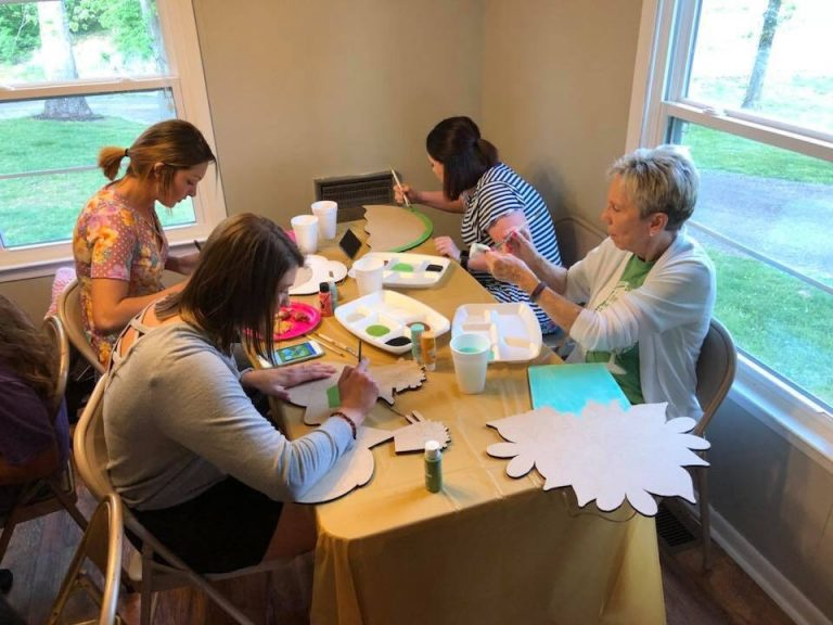 How to Host a Paint Party Group by Tamara Bennett of Southern ADOORnments