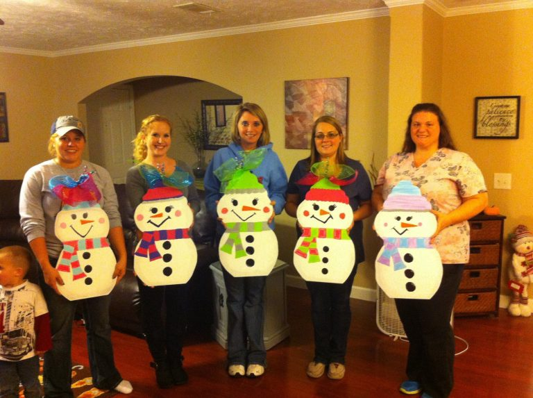 How to Host a Paint Party - Snowman - by Tamara Bennett of Southern ADOORnments