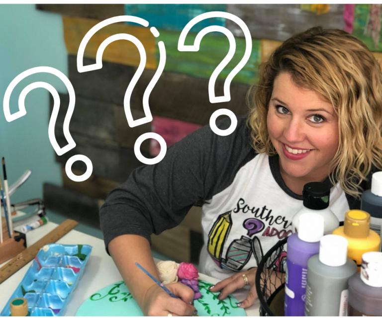 Top Ten Paint Tips for Door Hanger Beginners from Tamara Bennett Southern ADOORnments Facebook Poll