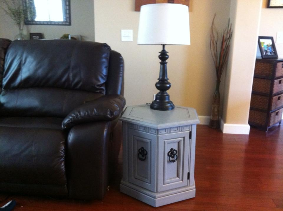 Before After Repainted End Tables Furniture Makeover by Southern Adoornments