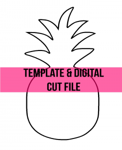 Pineapple Door Hanger Free Template Cut File for Summer by Southern ADOORnments