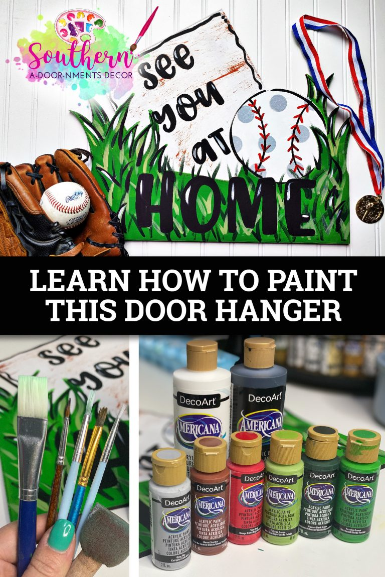 See You at Home Baseball Door Hanger Collage by Southern ADOORnments