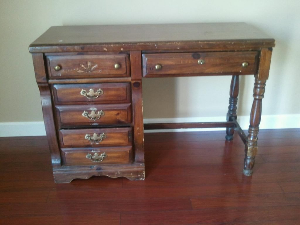 Thrift Store Wood Desk for DIY Painting Project by Southern ADOORnments