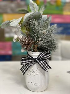 Thrift store painted mason jar cheap christmas craft by southern adoornments decor