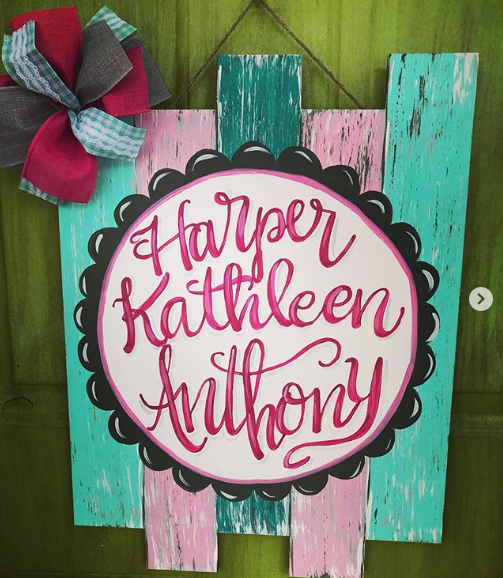Faux Pallet Personalized Painted Baby Name Wall Sign DIY Gift by Southern ADOORnment