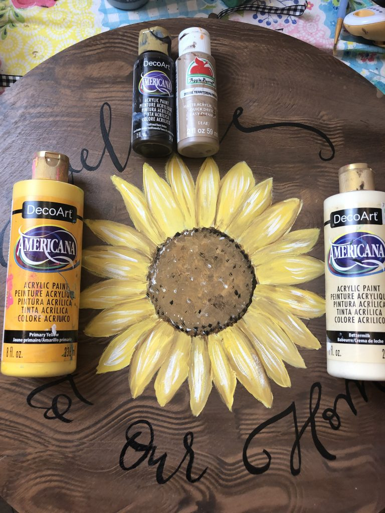 Paint Colors for Farmhouse Sunflower Painted Wood Sign by Southern A-DOOR-nments