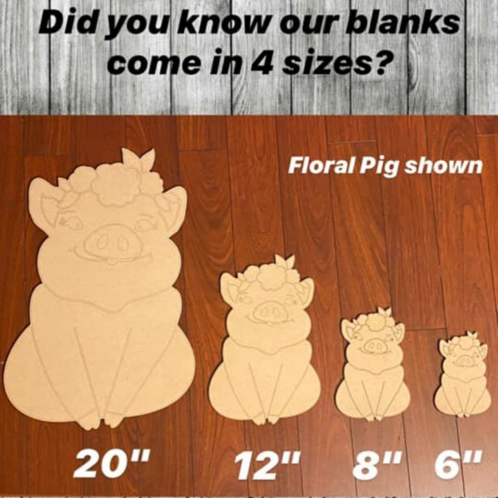 Paint Wooden Signs Door Hangers or Wreath Attachments Pig Farm Blanks by Southern Adoornments