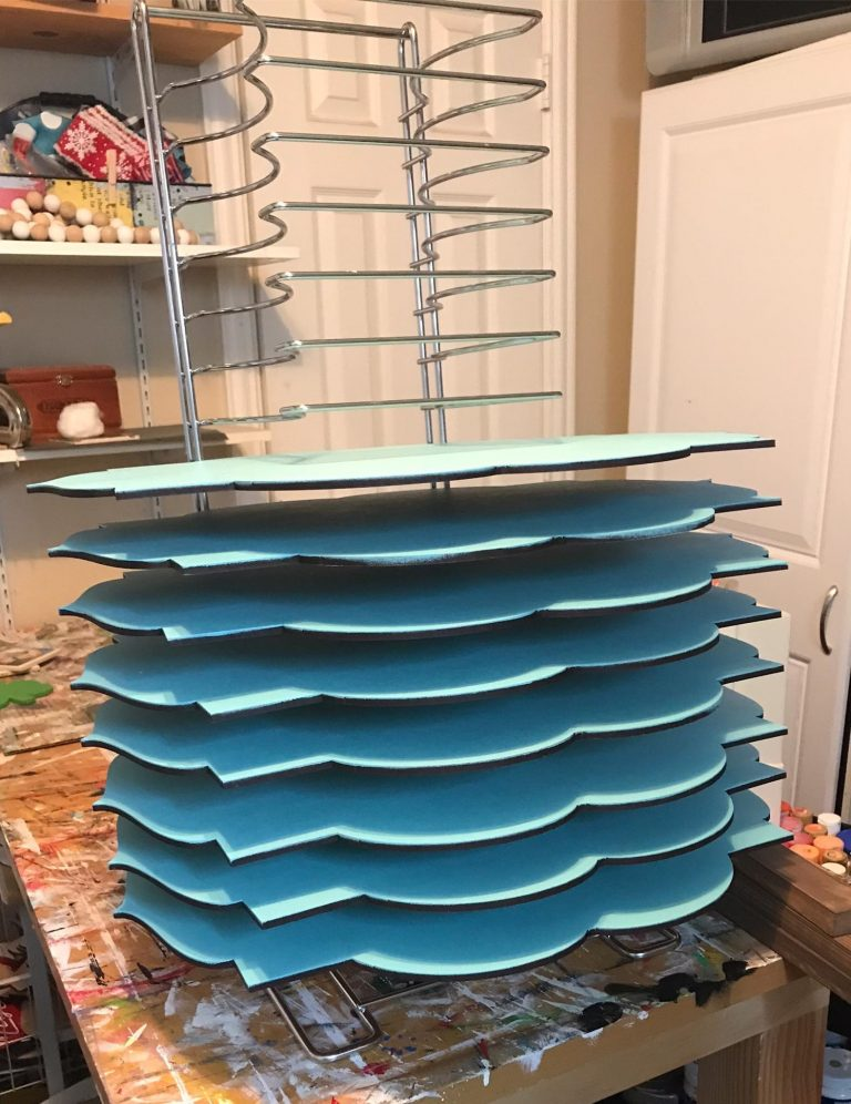Stacking Door hangers to Dry with Pizza Rack by Southern ADOORnments Decor