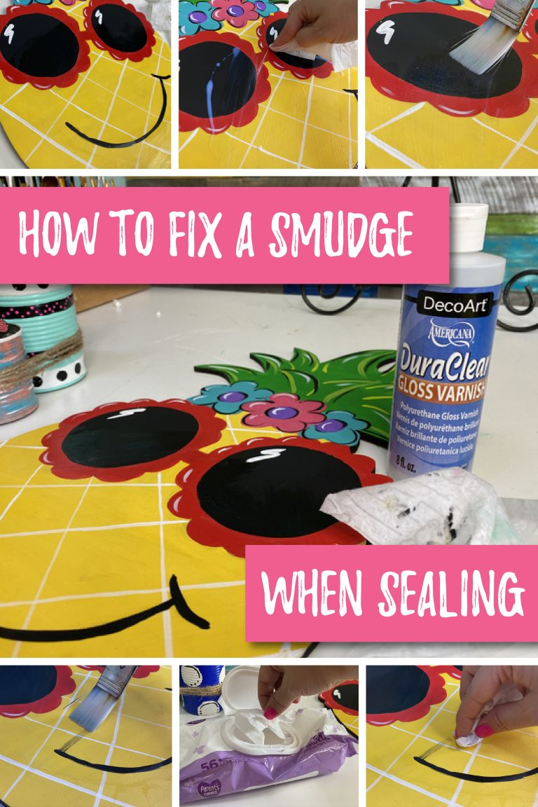 How to fix a paint smudge when sealing painted door hanger by Southern A-DOOR-nments