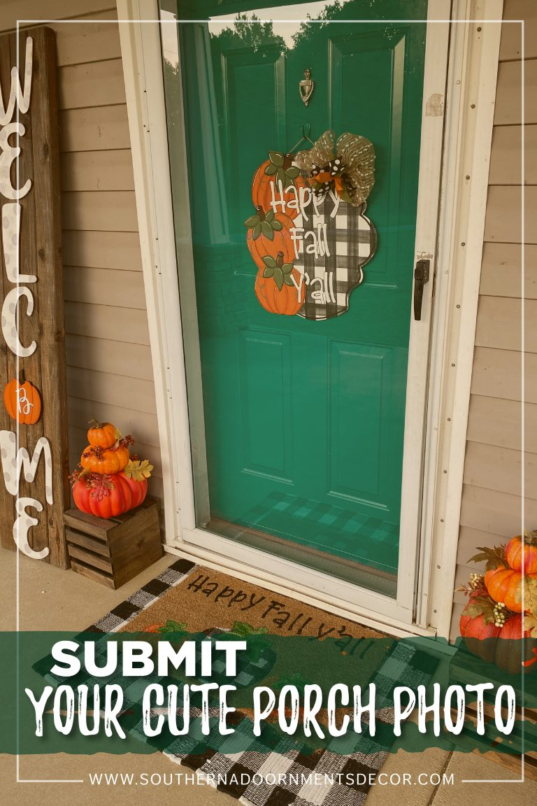 Fall Front Porch Decor with Black and White Buffalo Plaid by Southern A-Door-nments