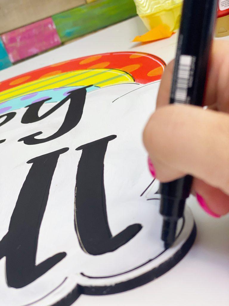 Paint Marker for Southern A-Door-nments Funky Rainbow Door Hanger