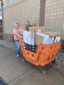 Tamara Bennett Shipping Southern A-Door-nments Door Hangers at Post Office