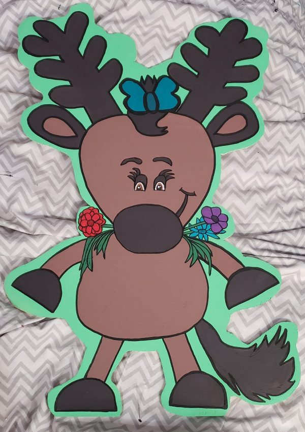 Reindeer Door Hanger by Joylene Smith at Illusionz Design