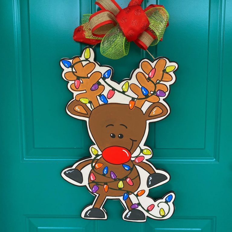 Tangled Reindeer Painted by Tamara Bennett at Southern A-Doornments