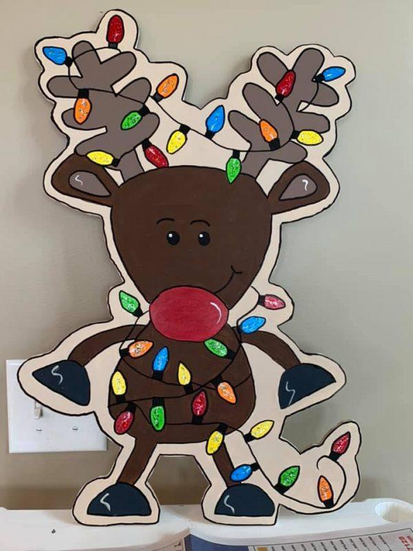 Susan Lucas Wiseman's Tangled Reindeer Door Hanger