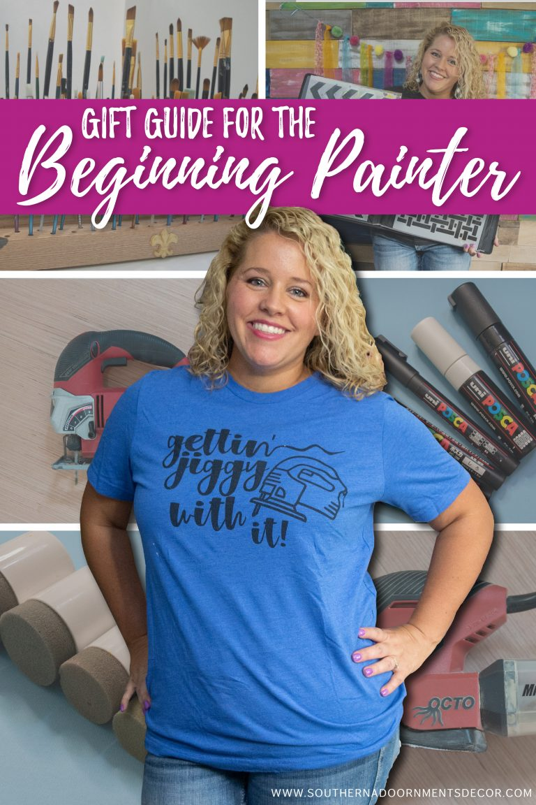 Gift Guide Ideas for the Beginning Door Hanger Painter or Crafter from Southern A-DOOR-nments