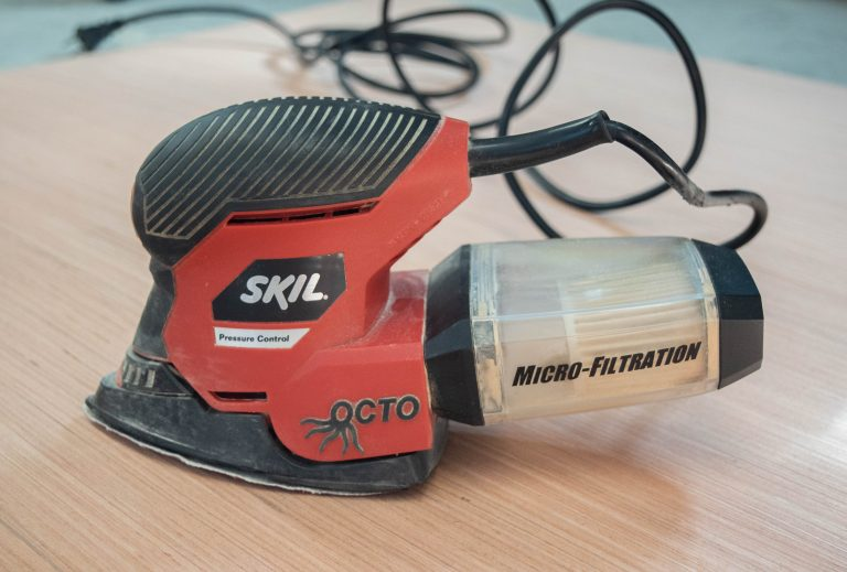 Skil Mouse Sander Used to Cut Blank Door Hangers