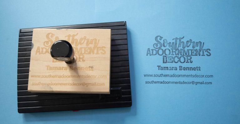 The Southern A-Door-nments Decor Business Logo Stamp for Door Hangers