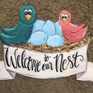 Welcome to Our Nest Door Hanger by Southern A-Door-nments