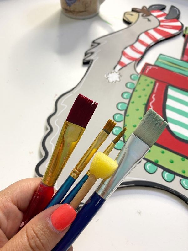 Southern A-Door-nments Paint Brushes Used for the Christmas Llama