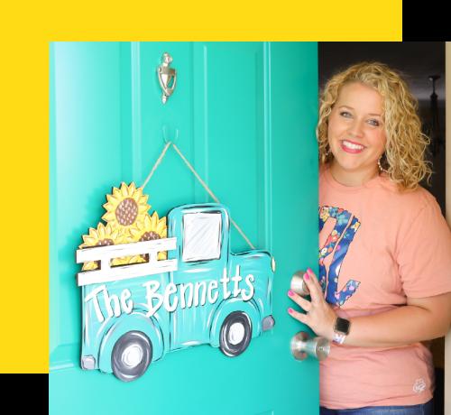 Tamara by Blue truck door hanger, Bennetts