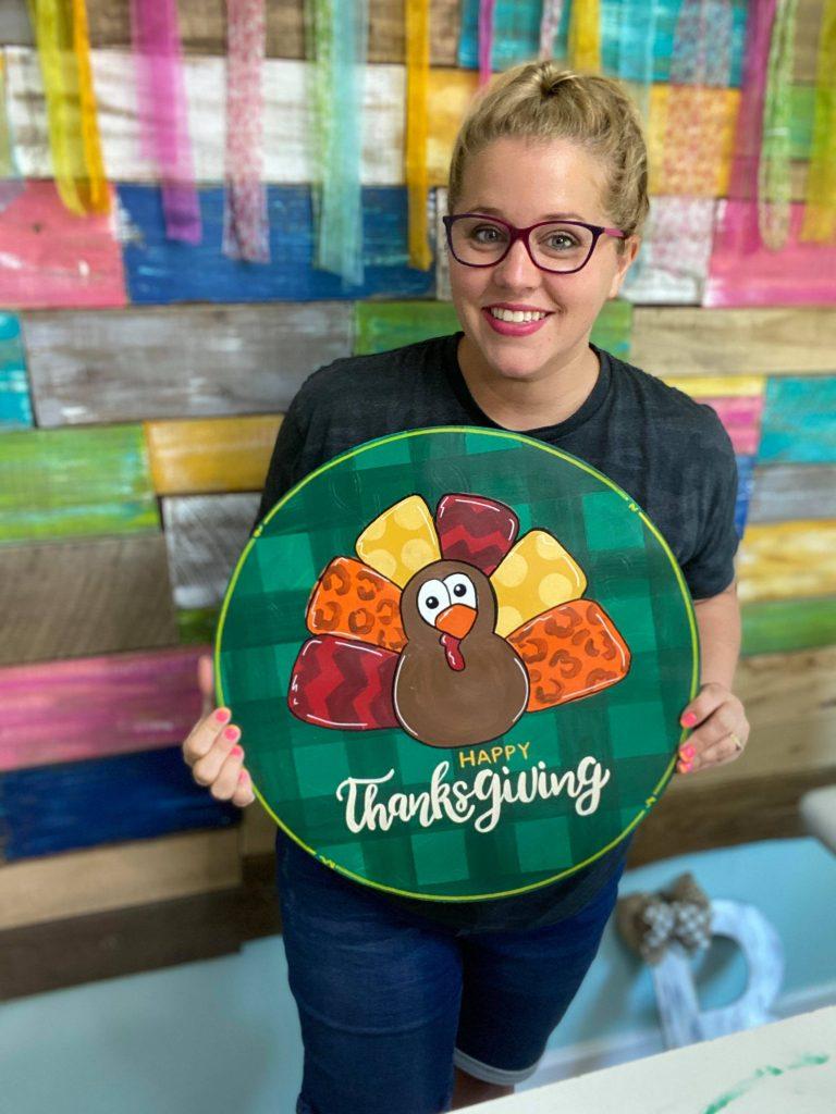 Tamara holding turkey DDH