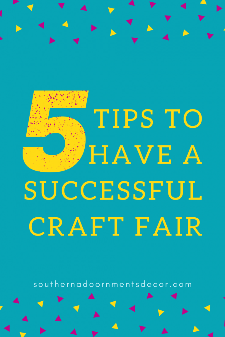 5 tips to have a successful craft fair