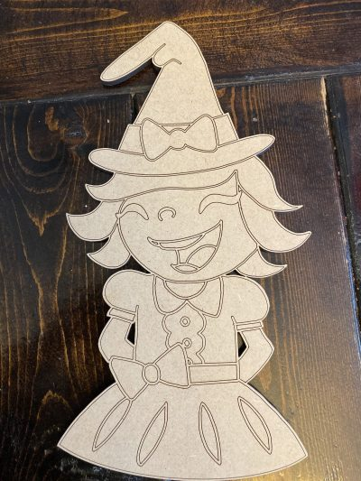 Halloween Witch Wooden Door Hanger Blank by Southern ADOORnments